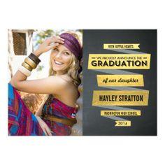 Posh Ribbon Graduation Invitation