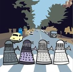 You know this is totally what they'd do once they took over the Earth. Dr Who The Beatles Abbey Road