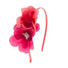 Girls' double-flower headband