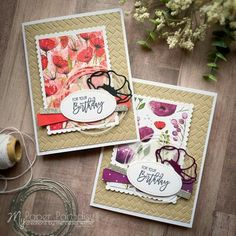 Mercedes Weber @ My Paper Paradise: Peaceful Poppies DSP - Stampin' Up! Stampin Up Anleitung, Poppy Cards, Stamping Up Cards, Card Sketches, Happy Birthday Cards, Flower Cards, Greeting Cards Handmade, Homemade Cards, Making Ideas