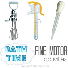 Bath Time Fine Motor Activities | Racheous - Lovable Learning