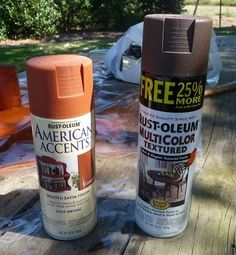 Primitive rusty can tutorial; how to make a new can look old and rusty (easier than Mod Podge and cinnamon)--Ahl Cooped Up