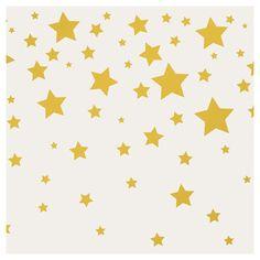 Tempaper - Kids Falling Stars Self-Adhesive Removable Borders + Stripes - Grey & Metallic Gold,