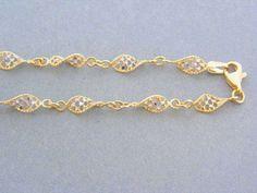 Zlatá retiazka dámska dvojfarebné zlato