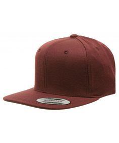 e5bf912a Original Yupoong Pro-style Wool Blend Snapback Blank Hat Baseball Cap 6098m  Maroon CN1181RMROX