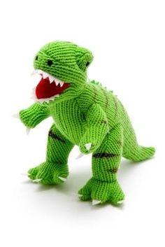 Knitted Green T Rex