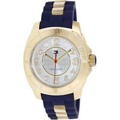Tommy Hilfiger Women's 1781307 Silver Rubber Analog Quartz Watch