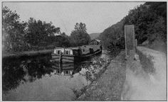 """(1851, July 5) Canal Boat """"Mary Ann"""", Approaching the Big Tunnel One Mile East of Hanover, Ohio"""