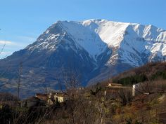 Marche - the region in central Italy delightful medieval fortresses, churches, olive groves, beautiful mountain scenery and sandy beaches. Medieval Fortress, Sandy Beaches, Chilling, Mount Everest, Scenery, Europe, Mountains, Winter, Travel