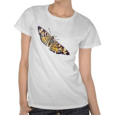 Pearl Crescent Butterfly ladies T-shirt