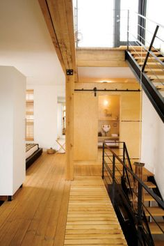 Architects Paul Bernier and Renée d'Amours' loft in Montreal