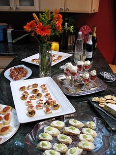 Appetizers for a Girl's Night Out! These look easy yet classy and yummy!