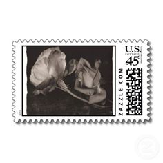 Black and white rose postage stamps!