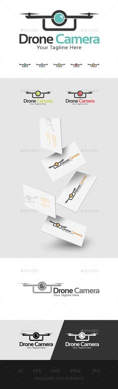Drone Camera Logo — Vector EPS #toy #film • Available here → https://graphicriver.net/item/drone-camera-logo/11455063?ref=pxcr
