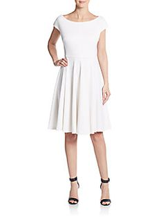 Ponte Jersey Fit-And-Flare Dress