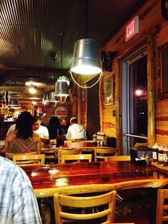 The rustic interior and handcrafted decor strikes a chord with diners.