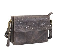 0b40cf13cffb Stay protected with this full grain distress buffalo leather crossbody  purse by Gun Tote n