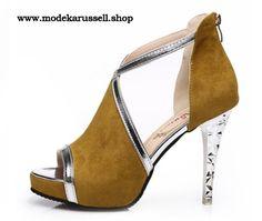 Damen Stilettos Sandaletten in Beige
