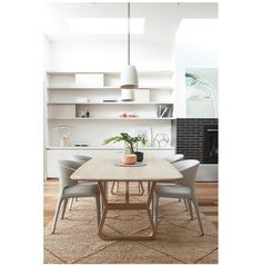 Amazing Scandi Goodness... Jade table and Husk chairs from Zuster