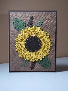 Scrapbook Cards, Scrapbooking, Sunflower Cards, Friendship Cards, Fall Cards, Love Messages, Stamping Up, Card Sizes, Basket Weaving