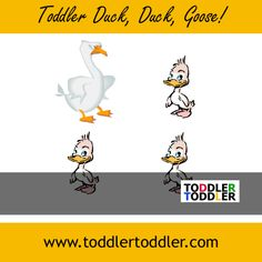 Group of Toddlers or Preschoolers game ( www.toddlertoddler.com ) : Duck, Duck GOOSE!