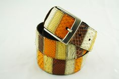 Belt in piton leather manufactured in Milan, Italy #Branni1970 #Leather #MadeInItaly
