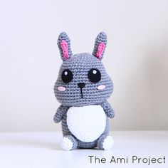 White Belly Bunny. Free crochet pattern by #theamiproject CUTIE!!