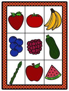 CARTAS DE LOTERÍA para trabajar frutas y verduras -Orientacion Andujar Bingo, Fruits And Vegetables, Birthdays, Kids Rugs, School, Flashcard, Dali, Playing Cards, Reyes