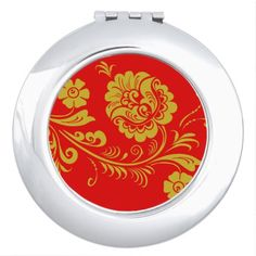 Groovy Pattern Compact Mirror