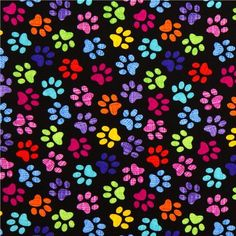black designer fabric with colourful checkered paw prints - Animal Fabric - Fabric - Kawaii Shop Flowery Wallpaper, Pattern Wallpaper, Scrapbooking, Scrapbook Paper, Paw Print Background, Iphone 6 Wallpaper, Iphone Backgrounds, Wallpaper Backgrounds, Animal Print Wallpaper