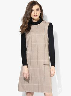 Buy Dorothy Perkins Brown Checked 2In1 Shift Dress for Women Online India, Best  Prices,