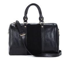 black duffel, perfect as a weekender bag too