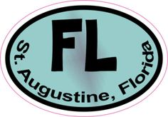 Colored St. Augustine sticker