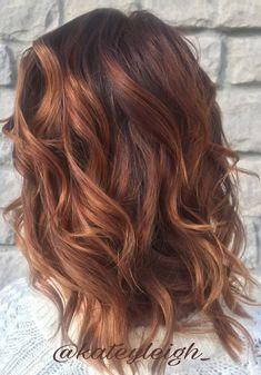Rose gold balayage on a base of red hair using Pravana Chromasilk hair color and Pravana express tones