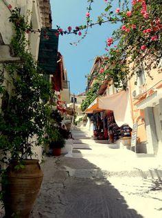 Narrow stairstep with shops in Parga, Epirus