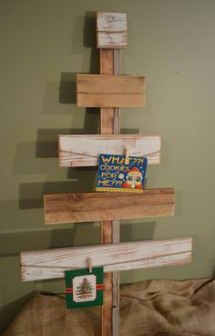 Reclaimed wood Christmas card holder
