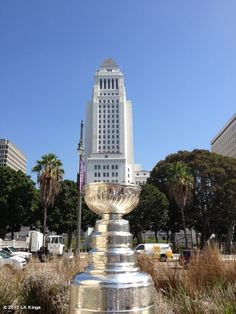 City Hall inside the Stanley Cup with the LA Kings