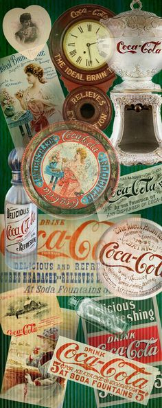 Vintage Coca Cola Signs (and example of diverse uses of the coke brand
