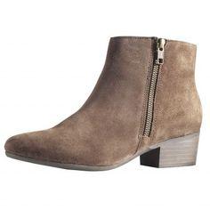 Chaussures femme boots zippées cuir du 36 au 41 - 3 Suisses 80€