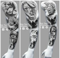 36 Trendy Ideas For Tattoo Sleeve Ideas For Men Drawing Design Wolf Tattoos, Leg Tattoos, Arm Band Tattoo, Body Art Tattoos, Tattoos For Guys, Ocean Sleeve Tattoos, Full Sleeve Tattoos, Tattoo Design Drawings, Tattoo Sleeve Designs