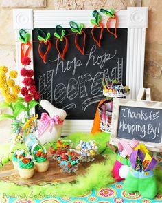 Hop Hop Hooray Easter Party - So many fun ideas! #HersheysEaster #ad