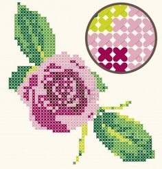 Rose cross stitch pattern