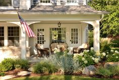 Porch Ideas. Cute front porch! #Porch  doors and window love the window in middle doors on side like in dining room