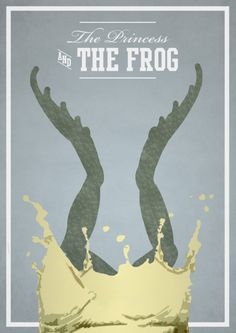The Princess and the Frog /// From English designer Rowan Stocks Moore's series of quaint Disney film posters.