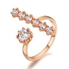 Italina Latest  zircon open ring 1155970002
