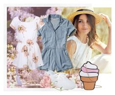"""Cool off this summer with Rompers"" by samariapretty on Polyvore featuring Hollister Co., Keds, René Caovilla, cute, romper, fashionset, summersandals and summer2016"