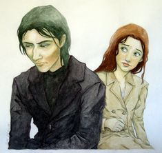 """Snape and Lily This was an illustration for my HP fanfic """"Quiet Desperation"""" (Rated R: NWS) (via The Choices We Make by ~irisclaymore on deviantART)"""