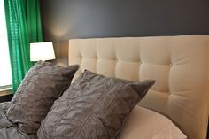 White Family News: Tufted Headboard DIY. It's queen sized AND comes with detailed how to instructions with pics!