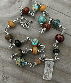 Autumn Fashion Necklace Artisan Lampwork Glass Beaded Jewelry. $223.00, via Etsy.