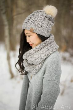 Braided Cabled Cowl - free crochet pattern (Slouchy Beanie to follow) at All About Ami.